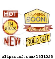 Clipart Of Sale Labels Royalty Free Vector Illustration