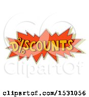 Clipart Of A Discounts Sales Design With A Percent Symbol Royalty Free Vector Illustration