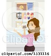 Teen Girl Preparing To Make Coffee