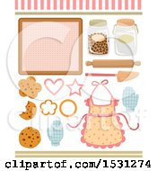 Clipart Of Baking And Cookie Elements Royalty Free Vector Illustration