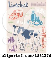 Poster, Art Print Of Cow Agriculture Labels