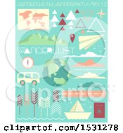 Poster, Art Print Of Geometric Travel And Wanderlust Design Elements