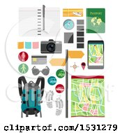 Poster, Art Print Of Travel Items And Design Elements