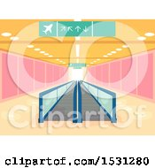 February 21st, 2018: Clipart Of A Walkalator Moving Walkway In An Airport Royalty Free Vector Illustration by BNP Design Studio