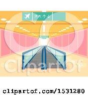 Walkalator Moving Walkway In An Airport