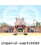 Clipart Of A Junk Yard Entrance Royalty Free Vector Illustration by BNP Design Studio