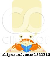 Crab Talking And Reading A Book