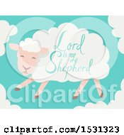 Clipart Of A Lord Is My Shepherd Saying On A Sheep Royalty Free Vector Illustration