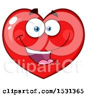 Poster, Art Print Of Red Love Heart Character