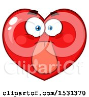 Clipart Of A Red Love Heart Character Sticking His Tongue Out Royalty Free Vector Illustration