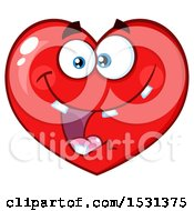 Poster, Art Print Of Goofy Red Love Heart Character