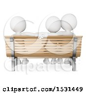 Clipart Of A 3d Group Of People Depicting Infidelity On A White Background Royalty Free Illustration