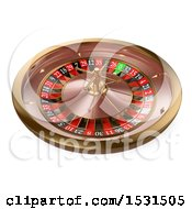 Clipart Of A 3d Casino Roulette On A White Background Royalty Free Illustration