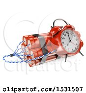 3d Time Bomb On A White Background