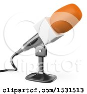 3d Microphone On A White Background