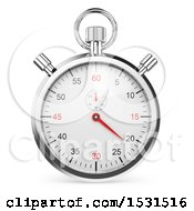 Clipart Of A 3d Stopwatch Chronometer On A White Background Royalty Free Illustration