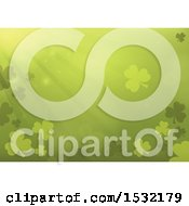 Clipart Of A St Patricks Day Background With Shamrocks Royalty Free Vector Illustration