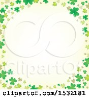 Clipart Of A St Patricks Day Border With Shamrocks Royalty Free Vector Illustration