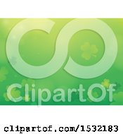 Clipart Of A St Patricks Day Background With Shamrocks Royalty Free Vector Illustration by visekart