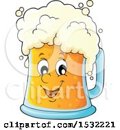 Clipart Of A St Patricks Day Beer Character Royalty Free Vector Illustration
