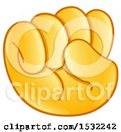 Clipart Of A Fisted Emoji Hand Royalty Free Vector Illustration