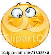 Poster, Art Print Of Silly Yellow Cartoon Emoji