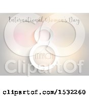 Clipart Of A Happy Womens Day Design Royalty Free Vector Illustration by KJ Pargeter