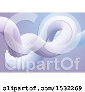 Clipart Of A 3d Abstract Fluid Design Royalty Free Vector Illustration