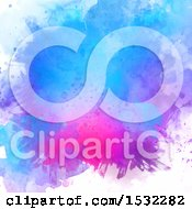 Clipart Of A Purple Watercolor Splatter Background Royalty Free Vector Illustration