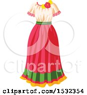 Clipart Of A Cinco De Mayo Dress Royalty Free Vector Illustration