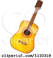 Clipart Of A Cinco De Mayo Guitar Royalty Free Vector Illustration by Vector Tradition SM