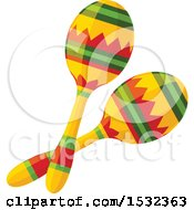 Clipart Of A Pair Of Maracas Royalty Free Vector Illustration by Vector Tradition SM