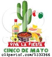 Cinco De Mayo Design With Mexican Food