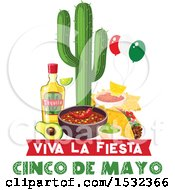 Cinco De Mayo Design With Mexican Food