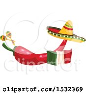 Cinco De Mayo Red Pepper Design