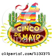 Clipart Of A Cinco De Mayo Design Royalty Free Vector Illustration