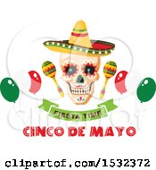 Poster, Art Print Of Cinco De Mayo Party Mexican Skull Design