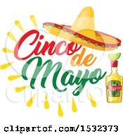 Clipart Of A Cinco De Mayo Mexican Sombrero Royalty Free Vector Illustration