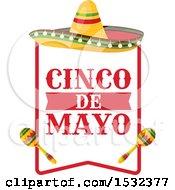 Clipart Of A Cinco De Mayo Mexican Sombrero Royalty Free Vector Illustration by Vector Tradition SM
