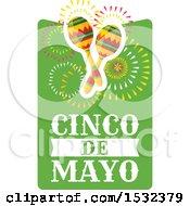 Clipart Of A Cinco De Mayo Maracas Design Royalty Free Vector Illustration