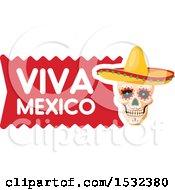 Poster, Art Print Of Viva Mexico Skull Design