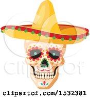 Poster, Art Print Of Cinco De Mayo Mexican Skull Design