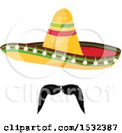 Clipart Of A Cinco De Mayo Mexican Sombrero Royalty Free Vector Illustration by Vector Tradition SM