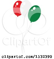 Clipart Of Cinco De Mayo Party Balloons Royalty Free Vector Illustration by Vector Tradition SM