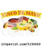 Clipart Of A Cinco De Mayo Food Design Royalty Free Vector Illustration by Vector Tradition SM