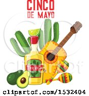 Clipart Of A Cinco De Mayo Design Royalty Free Vector Illustration by Vector Tradition SM