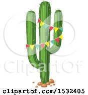 Clipart Of A Cinco De Mayo Saguaro Cactus Royalty Free Vector Illustration by Vector Tradition SM