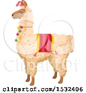 Clipart Of A Cinco De Mayo Llama Royalty Free Vector Illustration by Vector Tradition SM