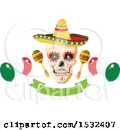 Cinco De Mayo Party Mexican Skull Design