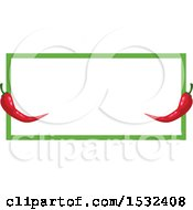 Clipart Of A Cinco De Mayo Red Pepper Frame Design Royalty Free Vector Illustration by Vector Tradition SM
